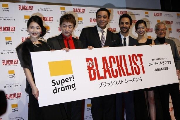ジャパンプレミアに参加した(写真左から)甲斐田裕子、山本耕史、ハリー・レノックス、アミール・アリソン、中澤紗里、大塚芳忠