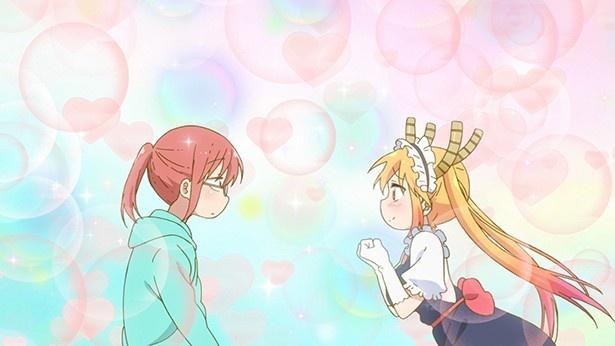 新アニメ「小林さんちのメイドラゴン」第1話先行カット公開。角あり尻尾ありの美少女メイド現る!