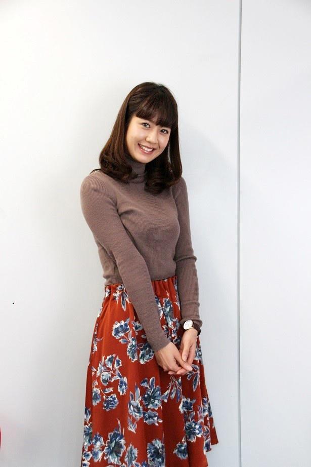 「ワイド!スクランブル」(テレビ朝日系)で天気コーナーを担当する桝田沙也香アナウンサー