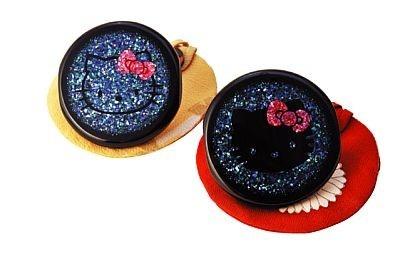 京漆器・上杉満樹工房 螺鈿手鏡(5万2500円・左)(4万2000円・右)
