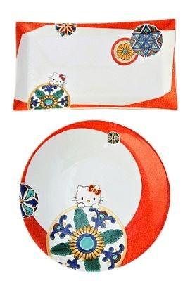 九谷焼・マリブデザインファクトリー 角皿(10万5000円)、丸皿(7万8750円)