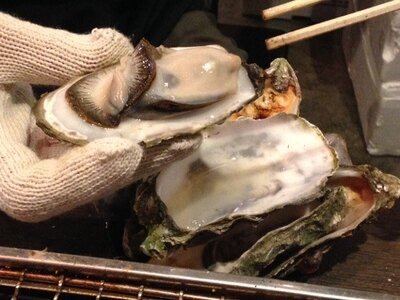 最高級ブランドの北海道サロマ湖かきじま産の牡蠣を味わえる