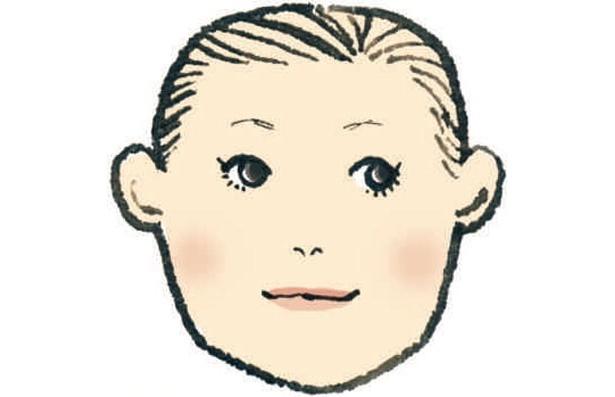 どちらかというと男顔で、たくましい感じがする四角顔さん顔。メイクでかわいさをプラスしたとたんに、知的でかわいい現代的な女性らしさが全開に