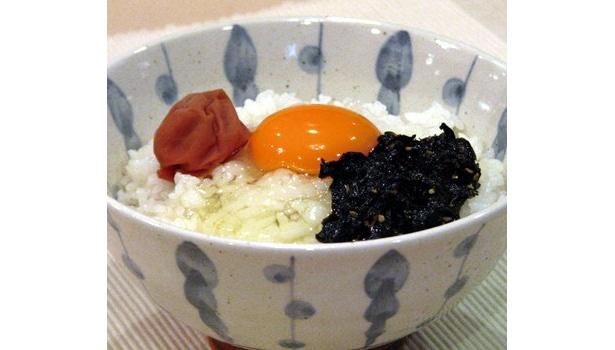 見た目も鮮やかな「紀州梅&有明産ののりの佃煮」