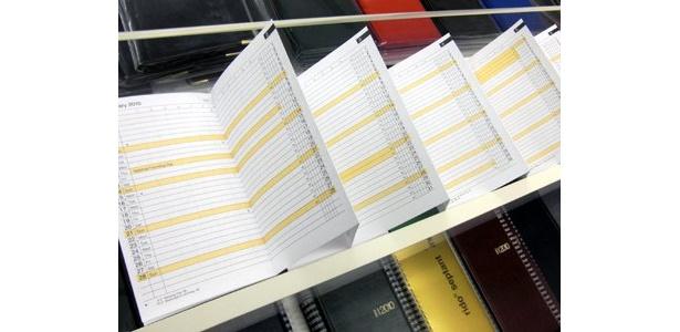 1年間の予定を一覧できるジャバラ式の手帳も! 伊東屋直輸入「リド ミニプランナー」(504円)