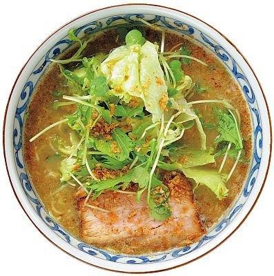 【注目のラーメンたちはコレ!】「らー麺屋 バリバリジョニー」のグリーンカレーラーメン(780円)