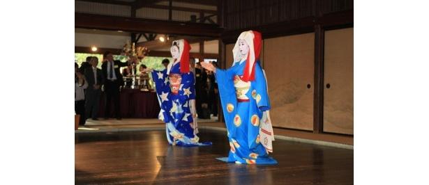パーティでは京舞を披露
