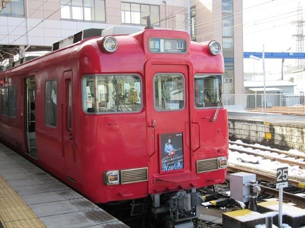【写真を見る】名古屋鉄道6000系車両には、PR用系統板が掲出される