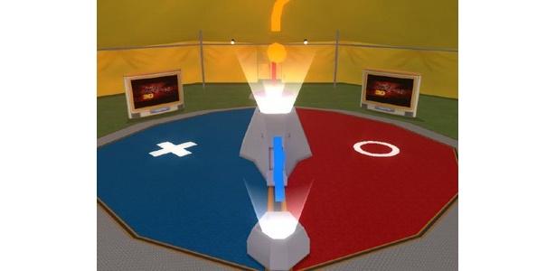 3D空間内に設けられたクイズ会場はこんなカンジ