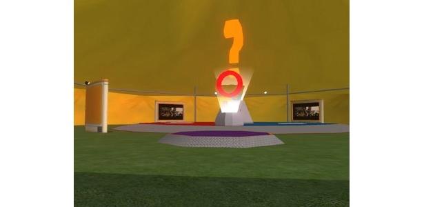 別のアングルより。どの方向から見ても位置が分かるように設計されている