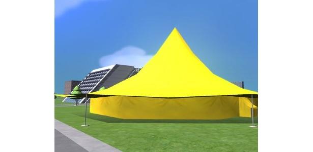 会場となるテントの外観