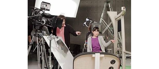 若干12歳でCM撮影に挑む
