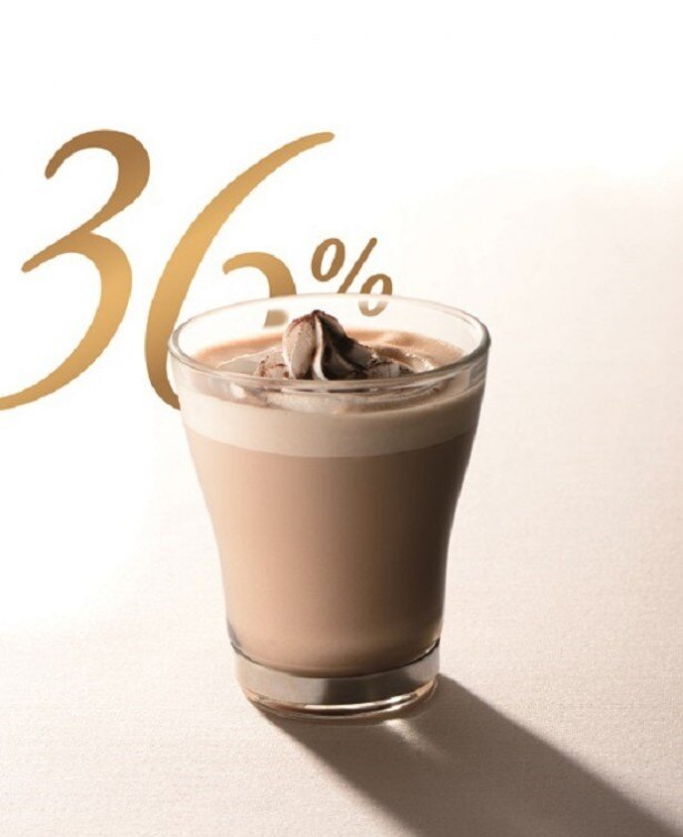 カカオ分が選べる冬にぴったりのホットチョコレートドリンク「カカオ36%」(390円)が新発売
