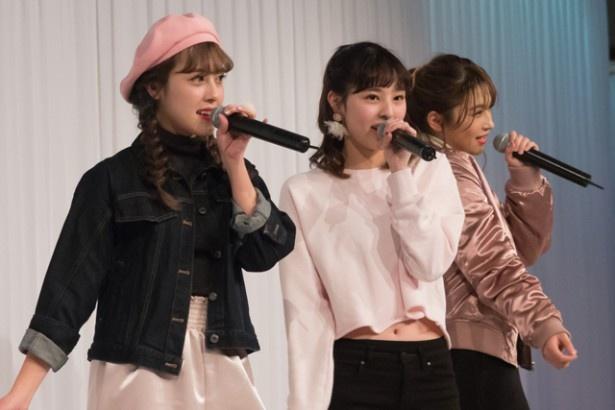 Berryz工房('15年3月無期限活動停止)の雅ちゃん(夏焼雅)を中心に結成された、3人組ユニット・PINK CRES.も登場!