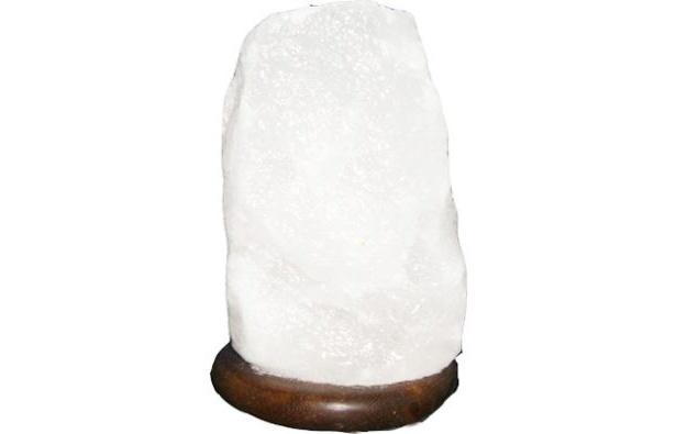 電気を消した状態の「ホワイトソルトランプ」