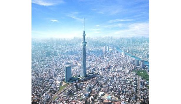 都心を一望できる世界一の展望タワー
