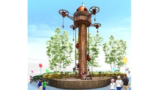 最高地点7.5mの高さから周囲の景色を楽しめる「パワータワー」