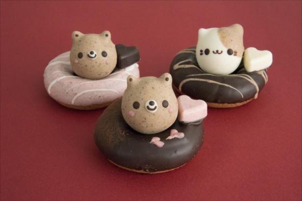 今回発売される「バレンタインどうぶつドーナツ」(350円)