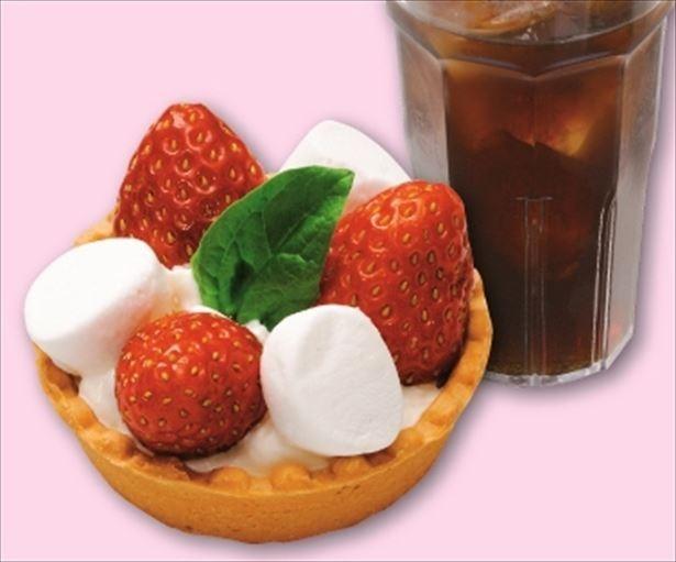 「Pasta House JinJin」の「いちごのタルト」(324円)