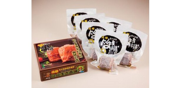 「東京ミートレア」7店舗の名物メニューを全部紹介! (写真は「元祖 にくまき本舗」のにくまきセット※持ち帰り用)