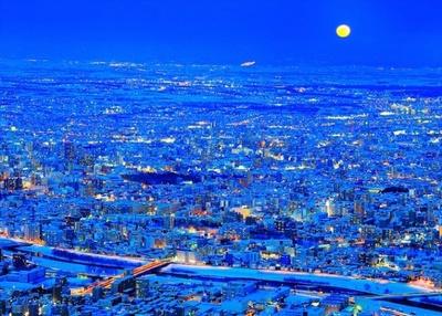 札幌夜景コンテスト2016年日本百名月認定記念特別賞「フルムーン コンチェルト」