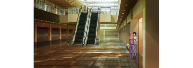 ショッピングモールの内部も再現されている