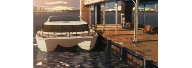 日の出埠頭・船着場のシーン