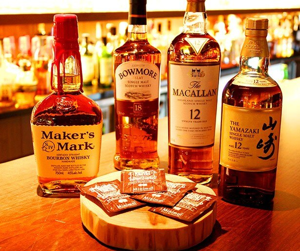 世界のウイスキーを知り尽くしたバー&ラウンジと、チョコレート専門店がコラボ!それぞれのお酒とチョコレートを食べ比べて